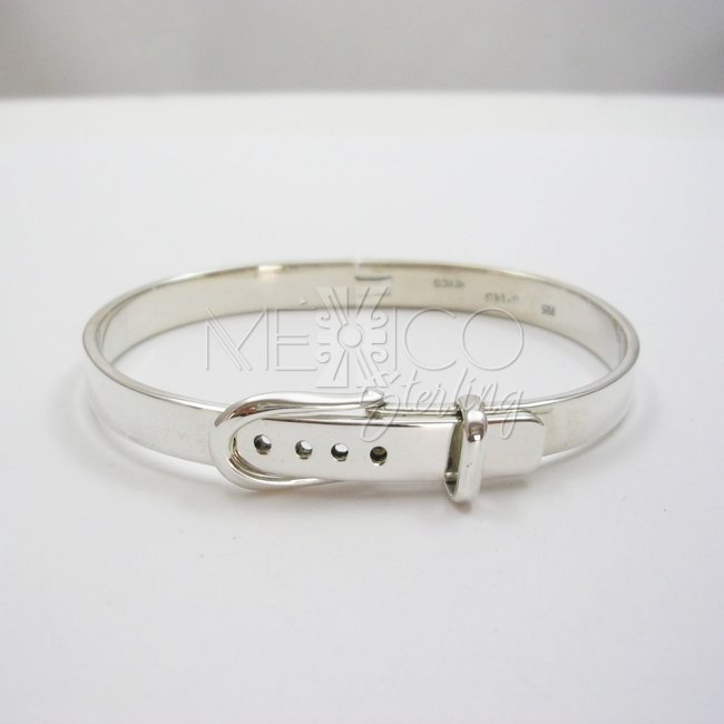 Taxco Unisex Sterling Silver Bangle Bracelet
