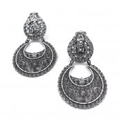 Filigree Silver Galaxy Large Earrings