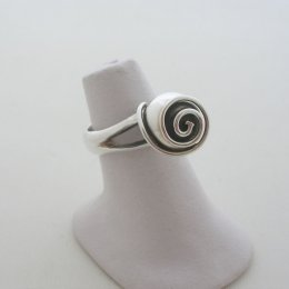 Mexican Silver Ring with a Stylized Rose