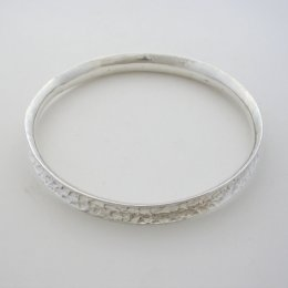 Taxco Hammered Silver Cuff Bangle