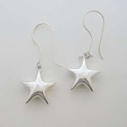 Unique Taxco Sterling Silver Star Earrings
