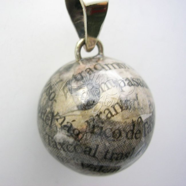 Newspaper Silver Plated Pendant
