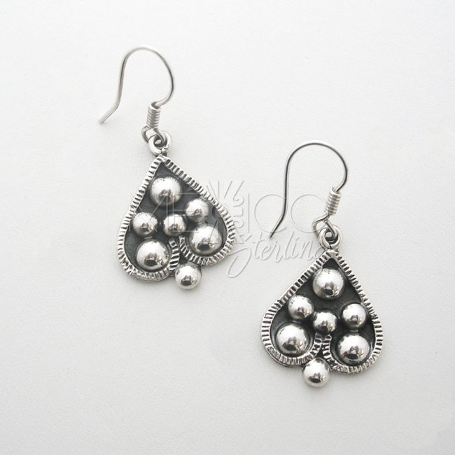Silver Ace of Spades Dangle Earrings