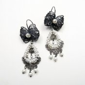 Silver Filigree Flirty Ribbon Earrings