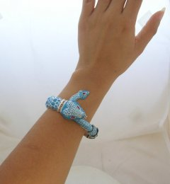 Margot de Taxco Silver Design with Enamel Bracelet