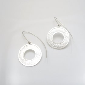 Taxco Silver Wishing Coins Earrings