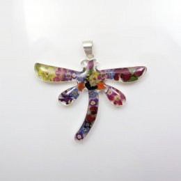 Silver and Still Nature Dragonfly Pendant