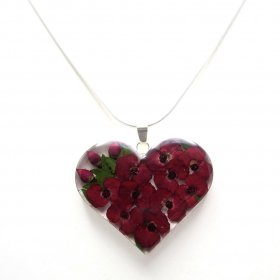 Silver Still Nature Heart of Hope Pendant