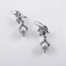Spiritual Awakening Silver and Pearls Earrings