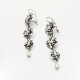 Silver Mazahua Flowers Earrings