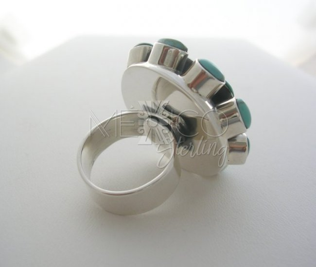 Decorative Taxco Solid Sterling Silver Ring