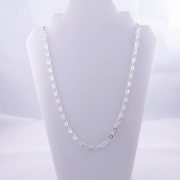 Silver Rhomboids long Chain Necklace