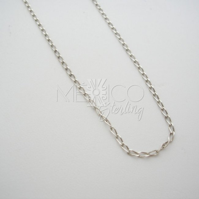 Long Taxco Silver Chain 925