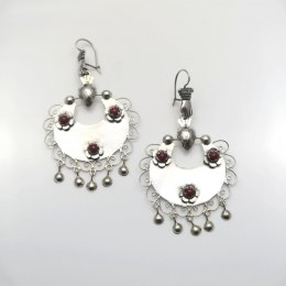 Mazahua Silver Soul Mirror Earrings