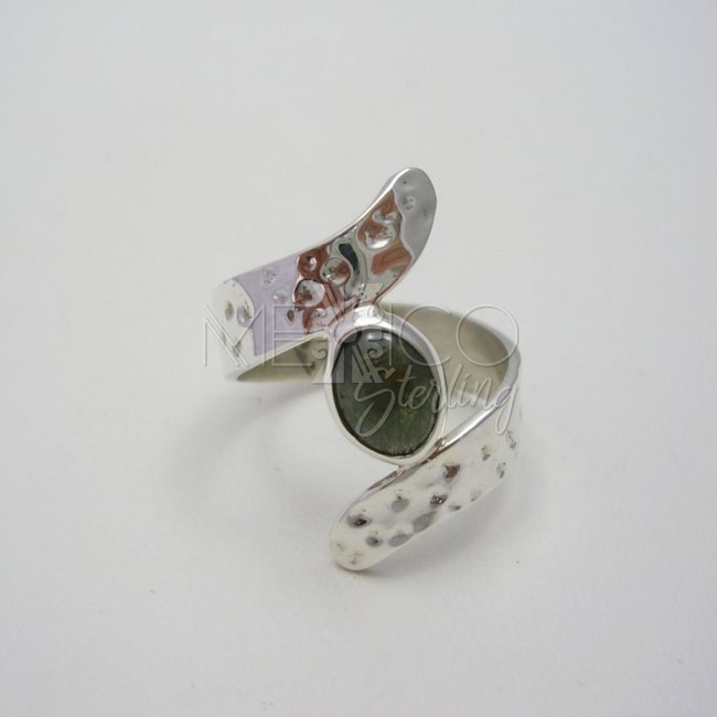 Taxco Silver Ring with Hammered Surface