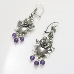 Mazahua Silver Milagros Earrings