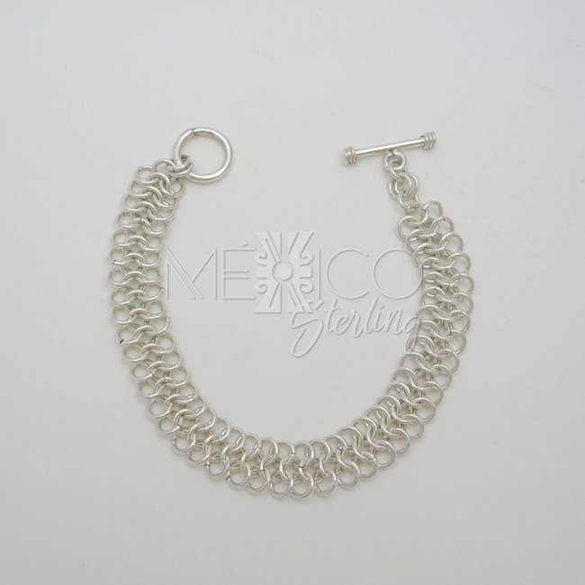 Delicate Silver Braided Bracelet Br3065 58 00 Mexico Sterling