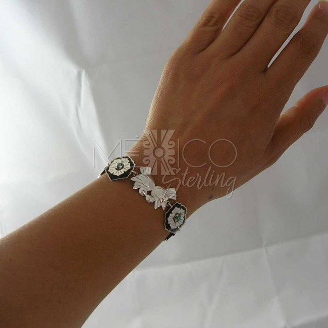 Singing Swallows Taxco Silver Bracelet