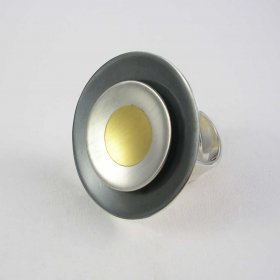 Burning Sun Mexican Silver, Gold Ring