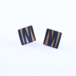 Silver and Gold Tiger's Jungle Studs