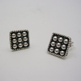 Taxco Sterling Silver Stud Earrings