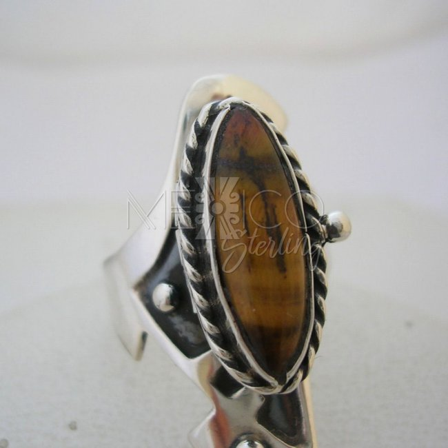Sterling Silver Poison Ring with Gemstone