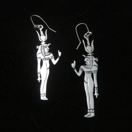 Silver Egypt Goddess Isis Earrings
