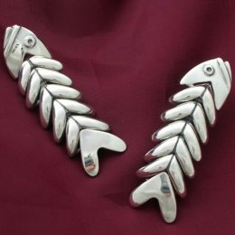 Silver Fish Earrings Old Taxco Reproduction