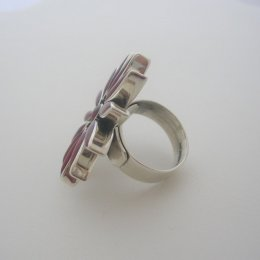 Adjustable Solid Silver Ring Flower Shape