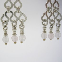 Taxco Silver Dangling Earrings Moonstones