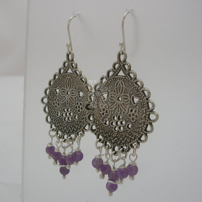Mexican Silver Medallion Earrings