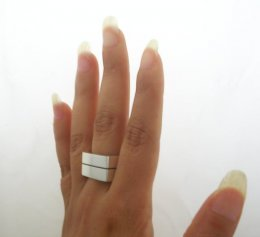 Solid Taxco Sterling Silver Geometric Unisex Ring