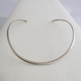 Delicate Taxco Silver Round Rope Choker