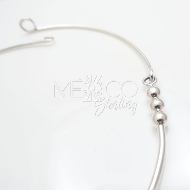 Mexican Silver Tribal Sword Necklace