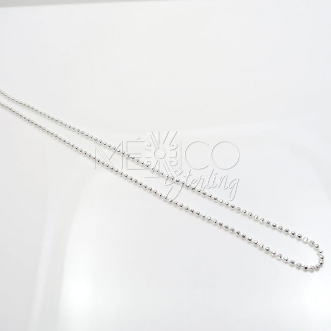 Silver Shiny Faceted Spheres Chain