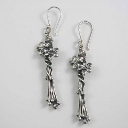 Long Mexican Silver Earrings