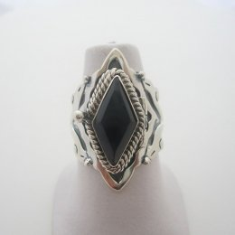 Baroque Taxco Sterling Silver Poison Ring