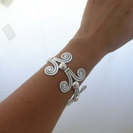 Silver Bracelet Designed by Margot de Taxco