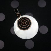 Silver Copper Happy Spirals Pendant