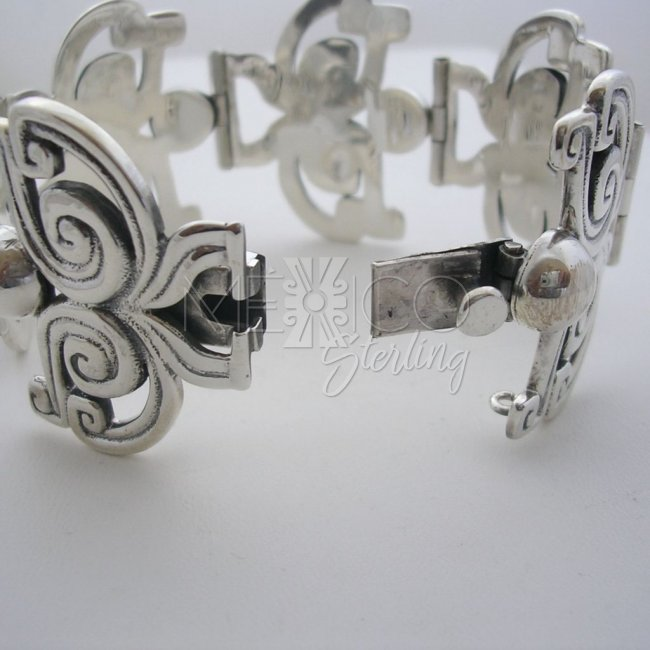 Margot de Taxco Molds Sterling Silver Bracelet