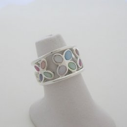 Mother of Pearl and Sterling Silver Ring