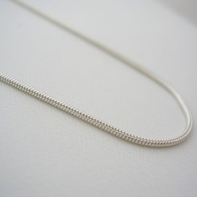 Chain Silver Necklace, Liquid Silver look