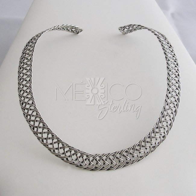 Going Wild Silver Braided Choker