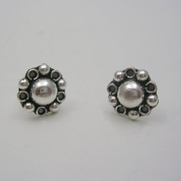 Sterling Silver Stud Flower Earrings