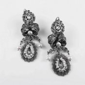 Silver Filigree Bliss Earrings from Oaxaca