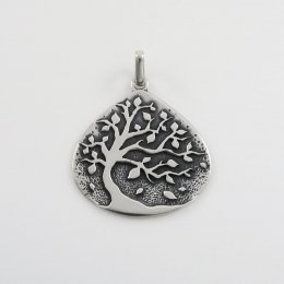 Taxco Silver Tree of Life Pendant