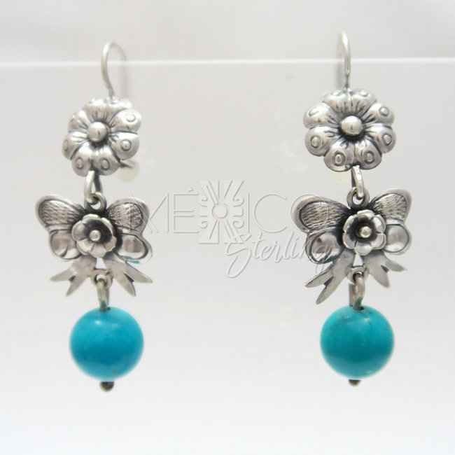 Mexican Silver Gift Dangle Earrings