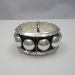 Stunning Large Taxco Silver Cuff