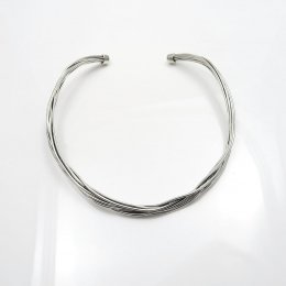 Silver twisted Chaos Thick Choker