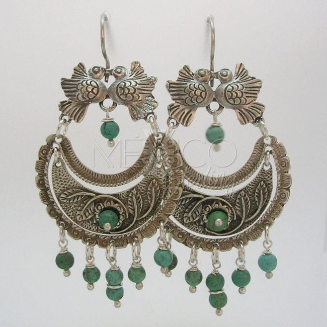 Classic Mexican Sterling Silver Earrings
